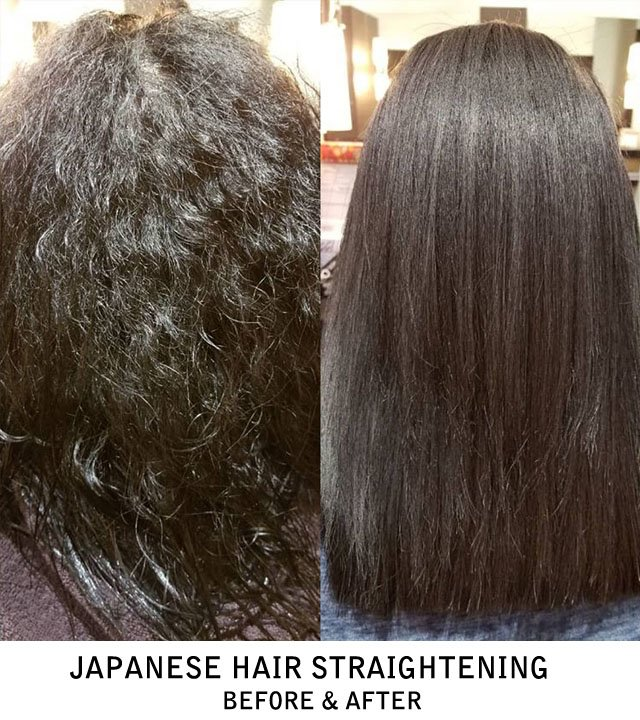 Japanese Hair Straightening Before & After