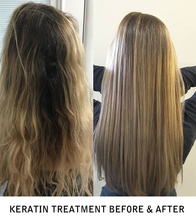Keratin Treatment Before & After Photo
