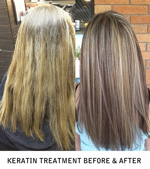 Keratin Treatment Before & After